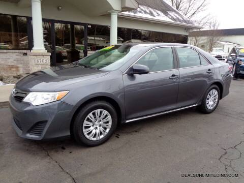 2014 Toyota Camry for sale at DEALS UNLIMITED INC in Portage MI