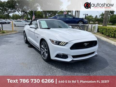2015 Ford Mustang for sale at AUTOSHOW SALES & SERVICE in Plantation FL