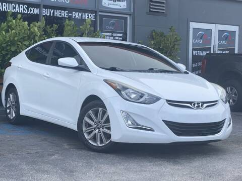 2016 Hyundai Elantra for sale at CARUCARS LLC in Miami FL