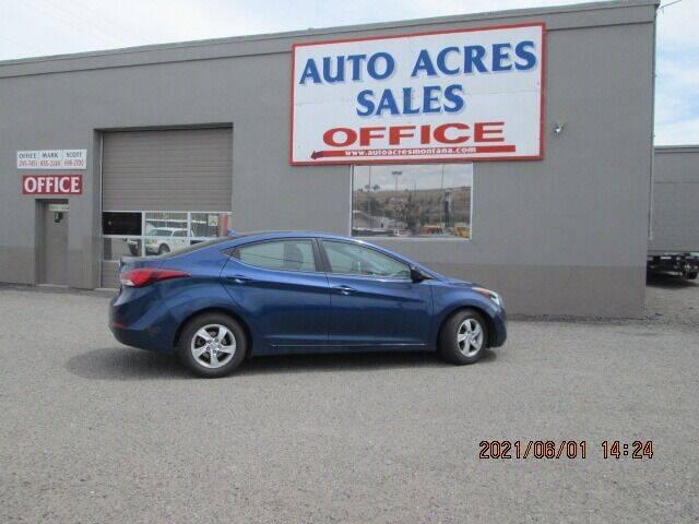 2015 Hyundai Elantra for sale at Auto Acres in Billings MT