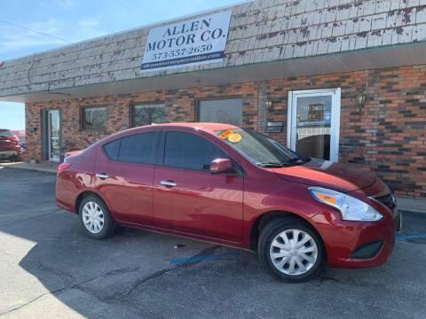 2018 Nissan Versa for sale at Allen Motor Company in Eldon MO