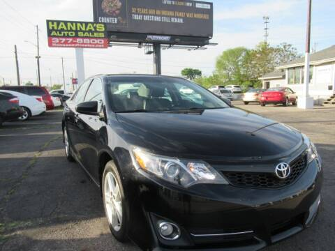 2013 Toyota Camry for sale at Hanna's Auto Sales in Indianapolis IN