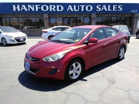 2013 Hyundai Elantra for sale at Hanford Auto Sales in Hanford CA