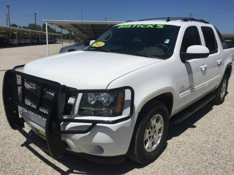 2012 Chevrolet Avalanche for sale at Bostick's Auto & Truck Sales in Brownwood TX