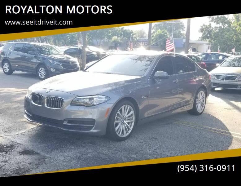 2014 BMW 5 Series for sale at ROYALTON MOTORS in Plantation FL