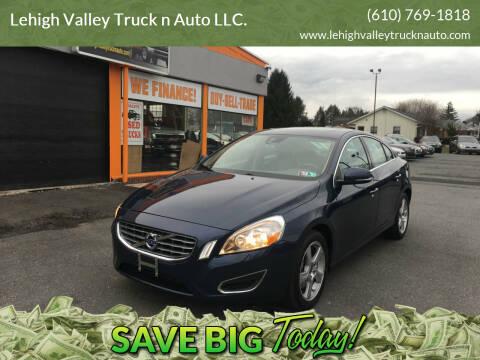 2013 Volvo S60 for sale at Lehigh Valley Truck n Auto LLC. in Schnecksville PA