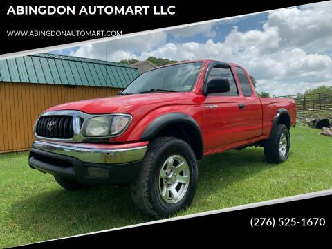 2003 Toyota Tacoma for sale at ABINGDON AUTOMART LLC in Abingdon VA