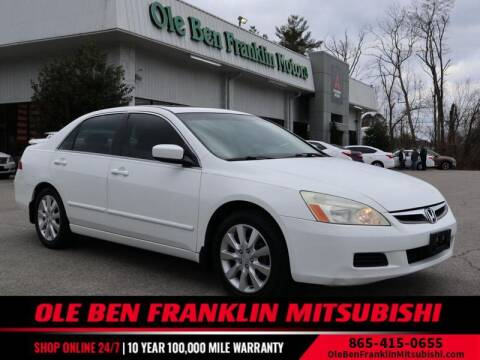 2006 Honda Accord for sale at Ole Ben Franklin Mitsbishi in Oak Ridge TN