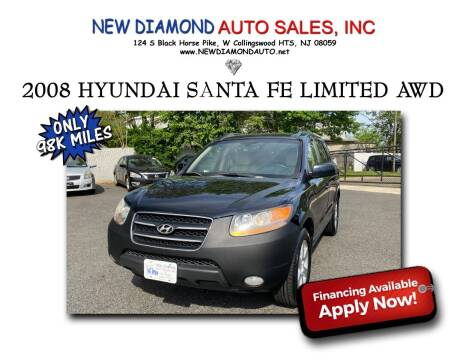 2008 Hyundai Santa Fe for sale at New Diamond Auto Sales, INC in West Collingswood NJ