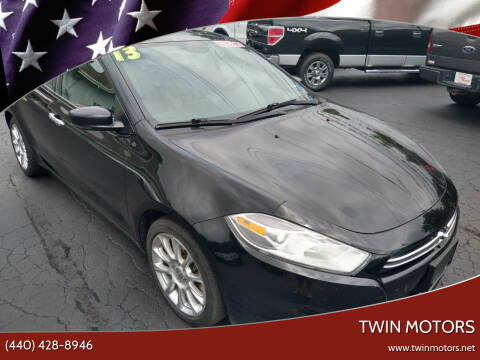 2013 Dodge Dart for sale at TWIN MOTORS in Madison OH