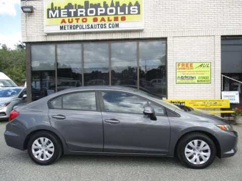 2012 Honda Civic for sale at Metropolis Auto Sales in Pelham NH