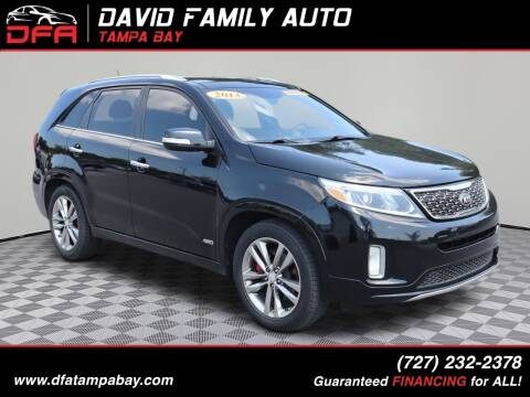 2014 Kia Sorento for sale at David Family Auto in New Port Richey FL