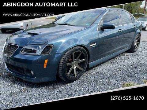 2009 Pontiac G8 for sale at ABINGDON AUTOMART LLC in Abingdon VA