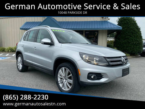 2013 Volkswagen Tiguan for sale at German Automotive Service & Sales in Knoxville TN