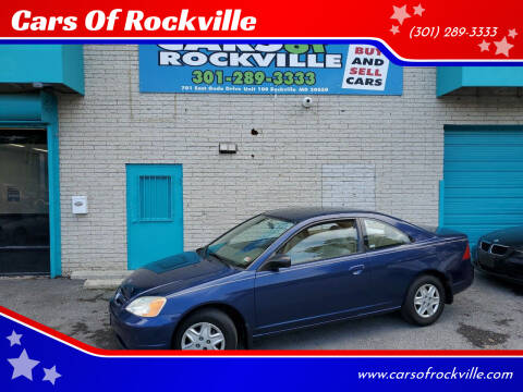 2003 Honda Civic for sale at Cars Of Rockville in Rockville MD