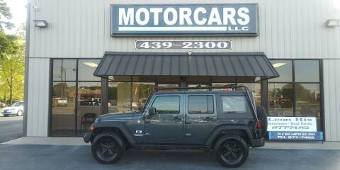 2007 Jeep Wrangler Unlimited for sale at MotorCars LLC in Wellford SC