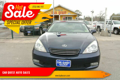 2004 Lexus ES 330 for sale at CAR QUEST AUTO SALES in Houston TX