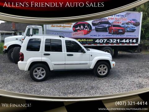 2005 Jeep Liberty for sale at Allen's Friendly Auto Sales in Sanford FL
