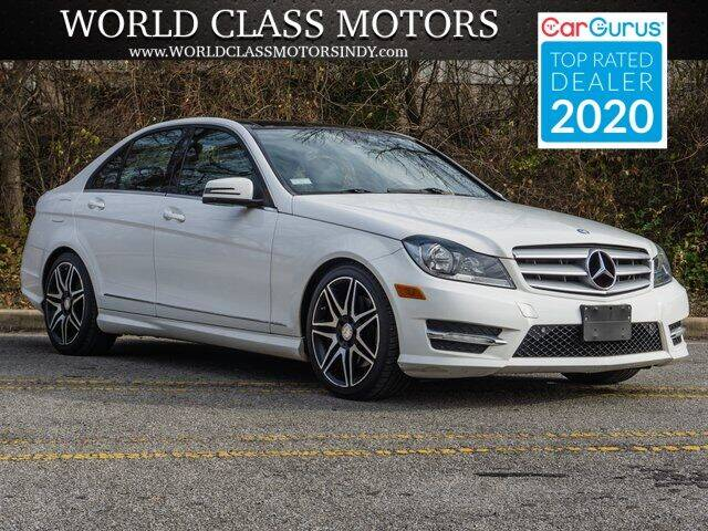 2013 Mercedes-Benz C-Class for sale at World Class Motors LLC in Noblesville IN