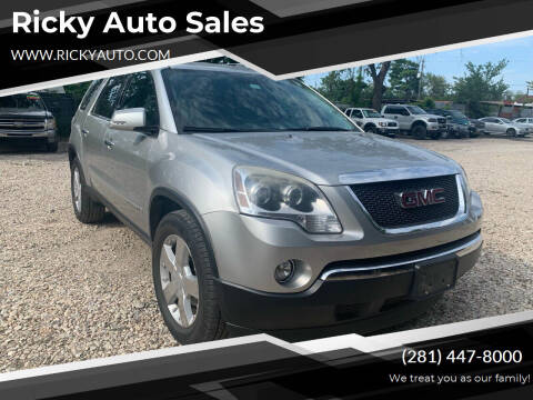 2008 GMC Acadia for sale at Ricky Auto Sales in Houston TX
