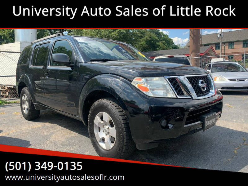 2009 Nissan Pathfinder for sale at University Auto Sales of Little Rock in Little Rock AR