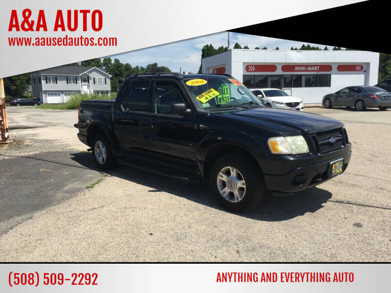 2004 Ford Explorer Sport Trac for sale at A&A AUTO in Fairhaven MA