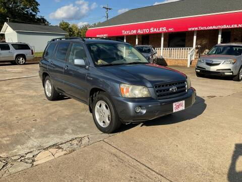 2004 Toyota Highlander for sale at Taylor Auto Sales Inc in Lyman SC