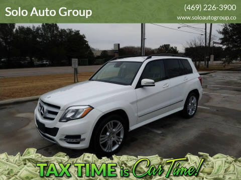 2013 Mercedes-Benz GLK for sale at Solo Auto Group in Mckinney TX
