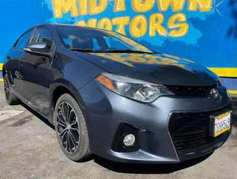 2014 Toyota Corolla for sale at Midtown Motors in San Jose CA
