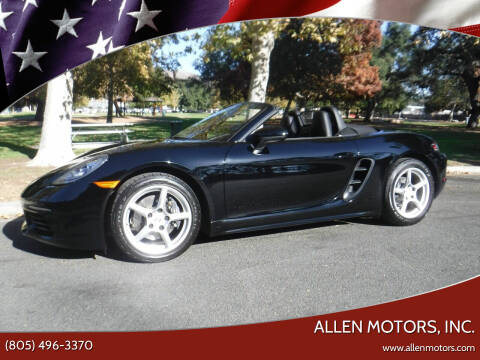 2017 Porsche 718 Boxster for sale at Allen Motors, Inc. in Thousand Oaks CA