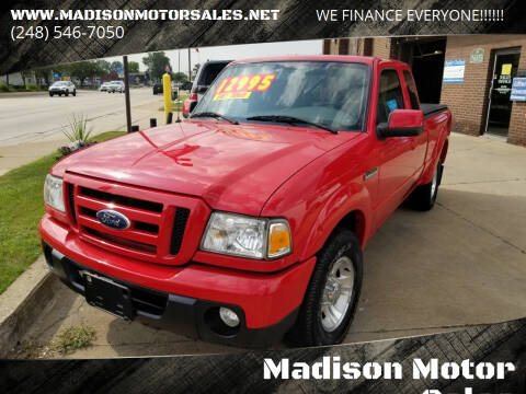 2011 Ford Ranger for sale at Madison Motor Sales in Madison Heights MI