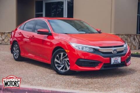 2018 Honda Civic for sale at Mcandrew Motors in Arlington TX