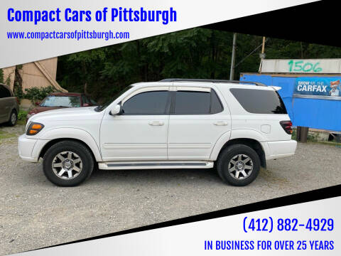 2001 Toyota Sequoia for sale at Compact Cars of Pittsburgh in Pittsburgh PA