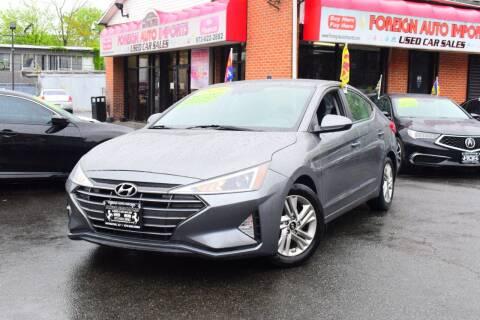 2020 Hyundai Elantra for sale at Foreign Auto Imports in Irvington NJ