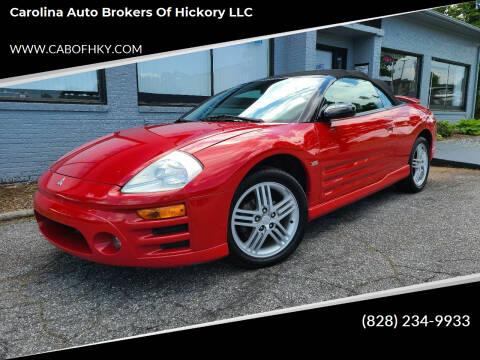 2003 Mitsubishi Eclipse Spyder for sale at Carolina Auto Brokers of Hickory LLC in Newton NC