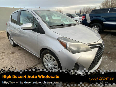 2016 Toyota Yaris for sale at High Desert Auto Wholesale in Albuquerque NM