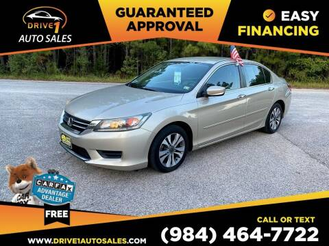 2014 Honda Accord for sale at Drive 1 Auto Sales in Wake Forest NC