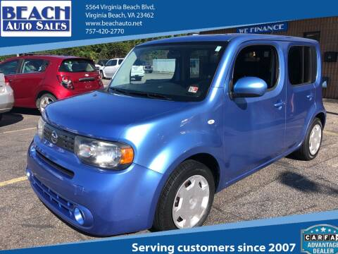 2014 Nissan cube for sale at Beach Auto Sales in Virginia Beach VA