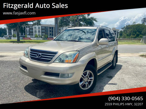 2008 Lexus GX 470 for sale at Fitzgerald Auto Sales in Jacksonville FL