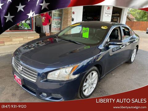 2011 Nissan Maxima for sale at Liberty Auto Sales in Elgin IL