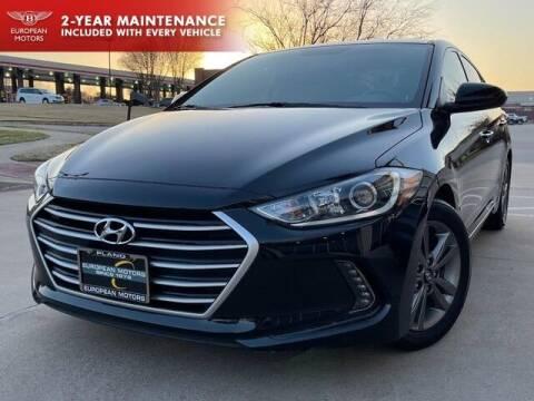 2018 Hyundai Elantra for sale at European Motors Inc in Plano TX