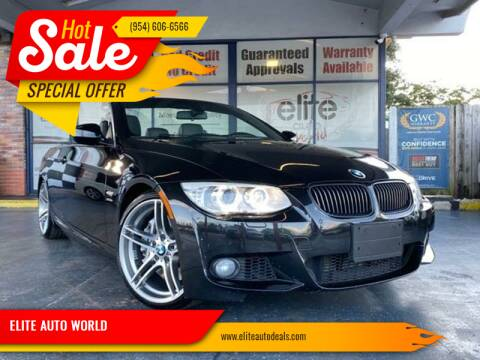 2013 BMW 3 Series for sale at ELITE AUTO WORLD in Fort Lauderdale FL