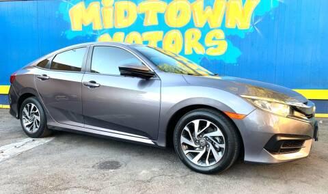 2016 Honda Civic for sale at Midtown Motors in San Jose CA