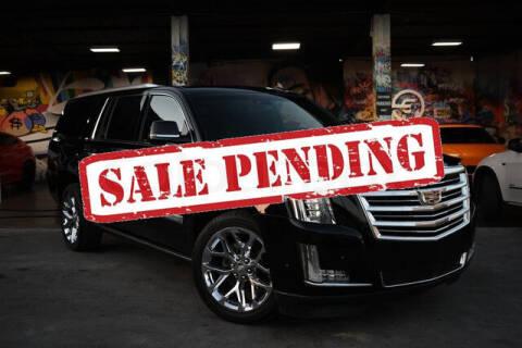 2017 Cadillac Escalade ESV for sale at ELITE MOTOR CARS OF MIAMI in Miami FL