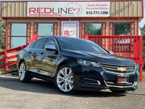 2015 Chevrolet Impala for sale at REDLINE AUTO SALES LLC in Cedar Creek TX
