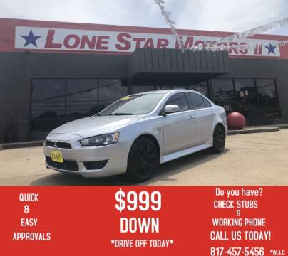 2015 Mitsubishi Lancer for sale at LONE STAR MOTORS II in Fort Worth TX