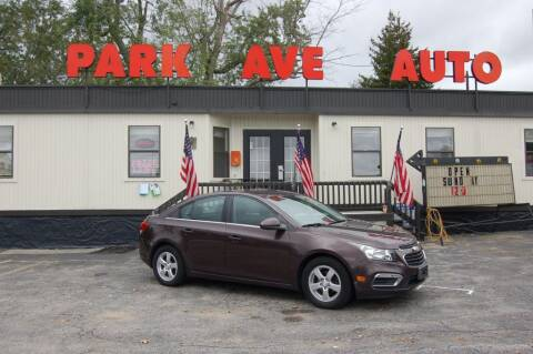 2015 Chevrolet Cruze for sale at Park Ave Auto Inc. in Worcester MA