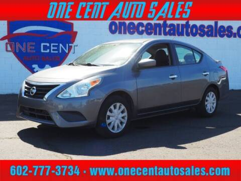 2017 Nissan Versa for sale at One Cent Auto Sales in Glendale AZ