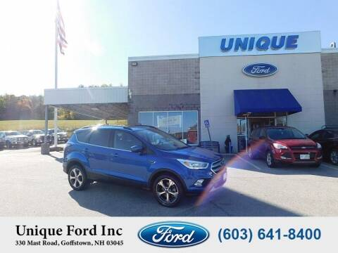 2017 Ford Escape for sale at Unique Motors of Chicopee - Unique Ford in Goffstown NH