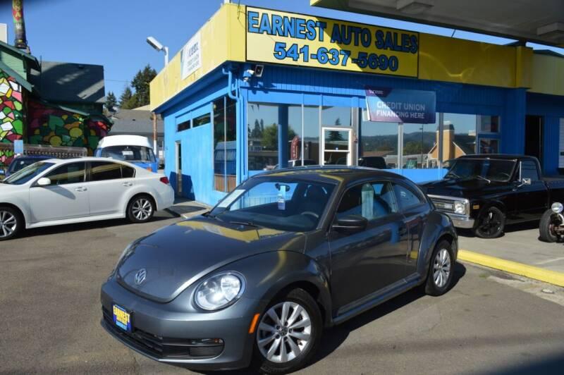 2016 Volkswagen Beetle for sale at Earnest Auto Sales in Roseburg OR